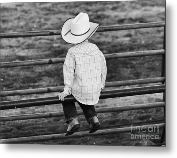 Born To Be A Cowboy Metal Print