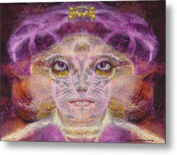 Born To The Purple Metal Print by Glen Heberling
