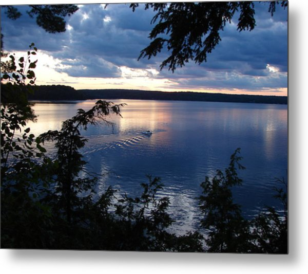 Boshkung Lake Sunset Metal Print