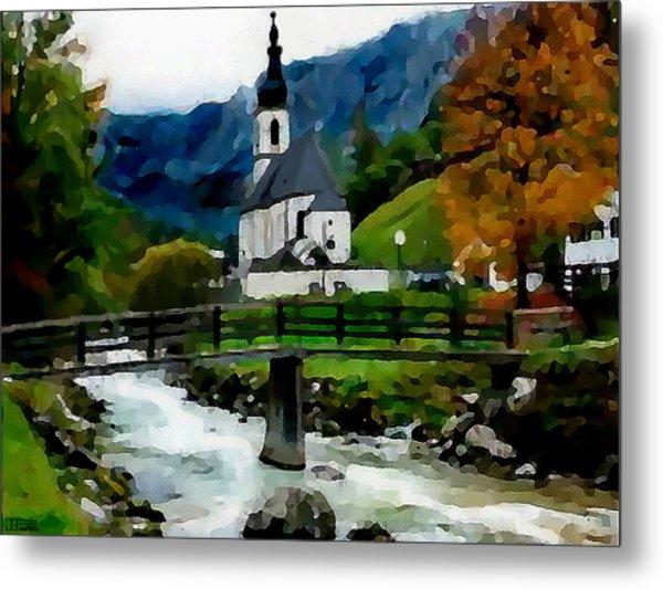Bosnian Country Church Metal Print