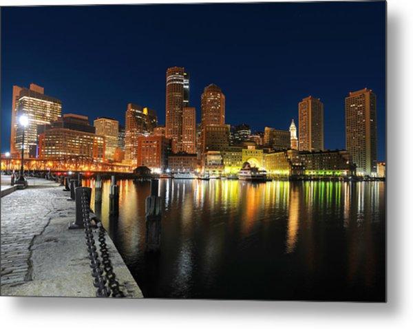 Boston Harbor Skyline  Metal Print