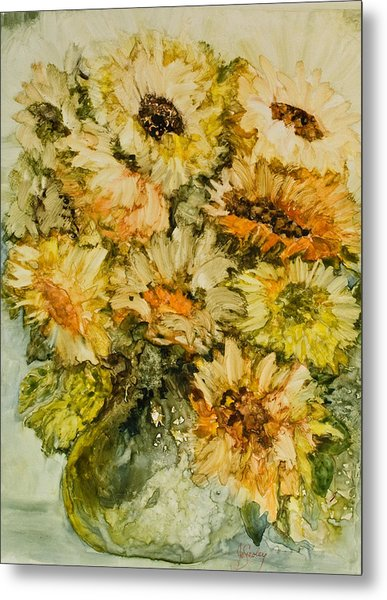 Bouquet Of Sunflowers Metal Print