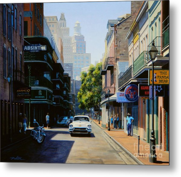 3 Piece Painting On Canvas Wall Art Nyc Street Lights New: Bourbon Street New Orleans Painting By Frank Dalton