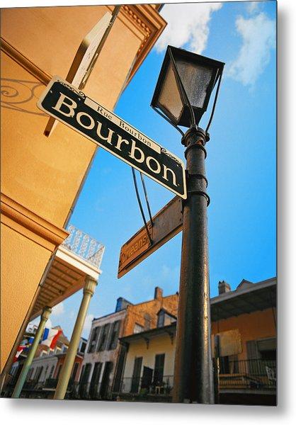 Bourbon Street New Orleans Metal Print