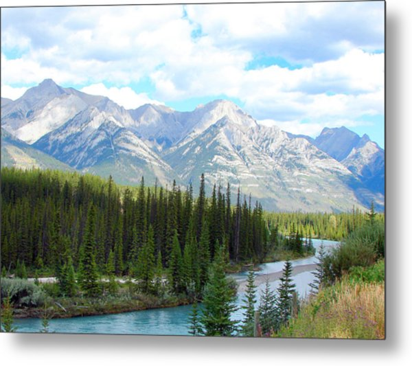 Bow River Near Canmore Alberta Metal Print