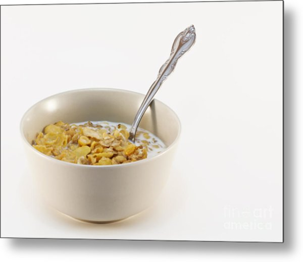 Bowl Of Cereal Metal Print by Blink Images
