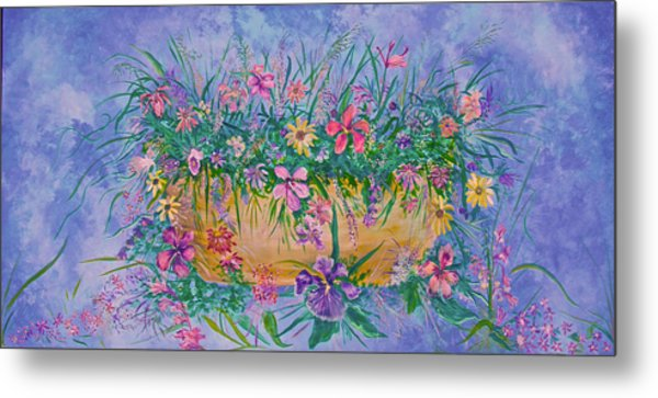 Bowl Of Flowers Metal Print
