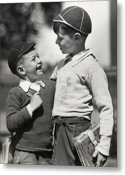 Boys Going To School Metal Print by George Marks