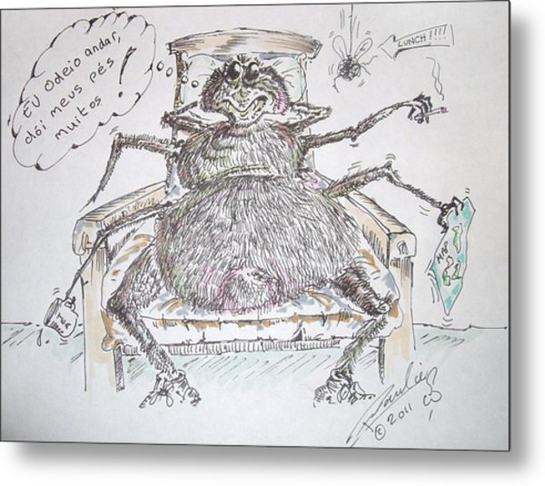 Brazilian Wandering Spider Metal Print by Paul Chestnutt