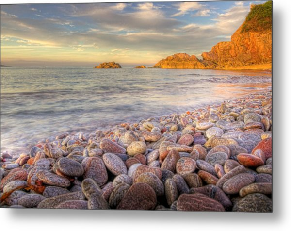 Breakwater Beach Metal Print by Phil Hemsley