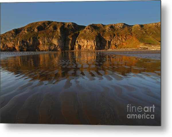 Brean Down Reflection Metal Print by Urban Shooters