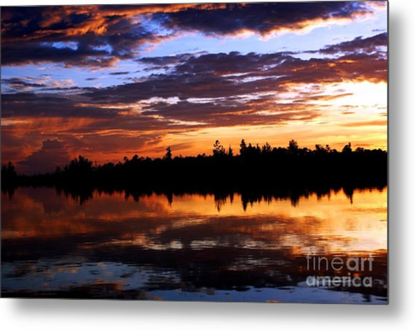 Breathtaking Sunset Metal Print by Luis and Paula Lopez
