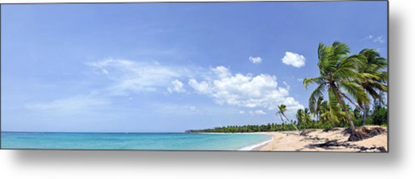 Breathtaking Tropical Beach Panorama Metal Print by Sebastien Coursol