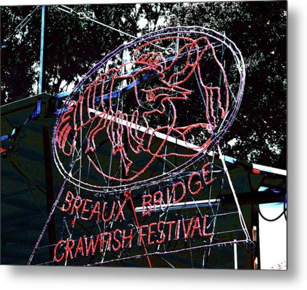 Breaux Bridge Crawfish Festival Metal Print