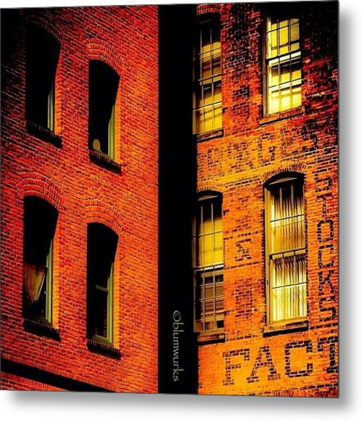 Brick & Glass Metal Print