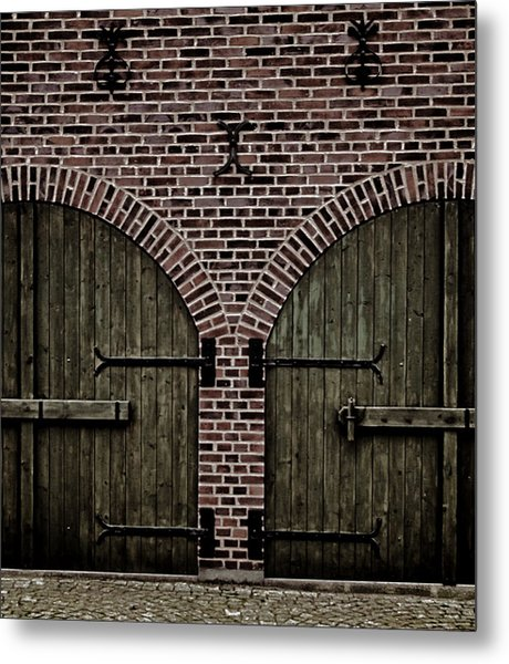 Brick Zipper Metal Print by Odd Jeppesen