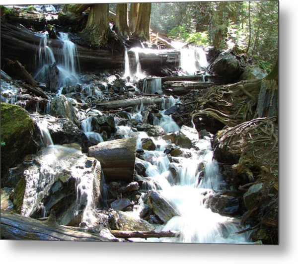Bridal Veil Falls Creek Metal Print