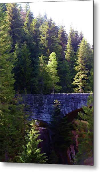 Bridge In The Middle Of Beauty Metal Print