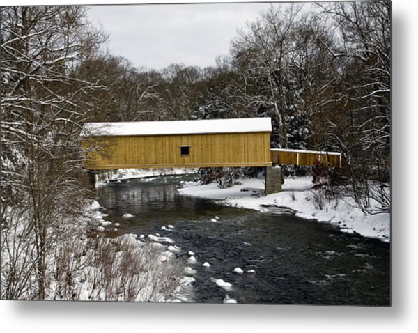 Bridge In Winter II Metal Print