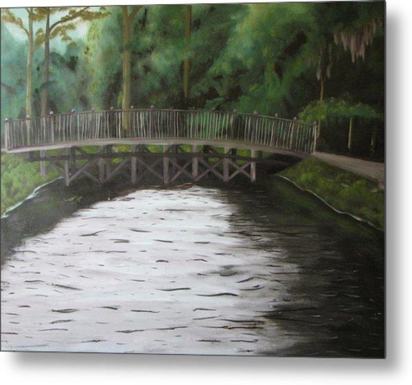 Bridge  Over River Metal Print by Iris Nazario Dziadul