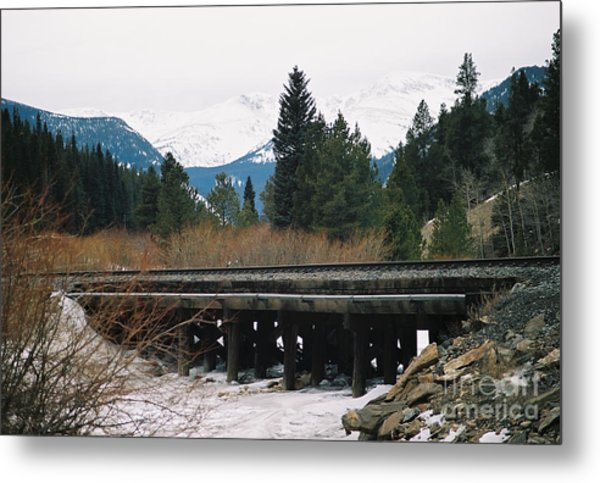 Bridge The Gap Metal Print by Christopher Griffin