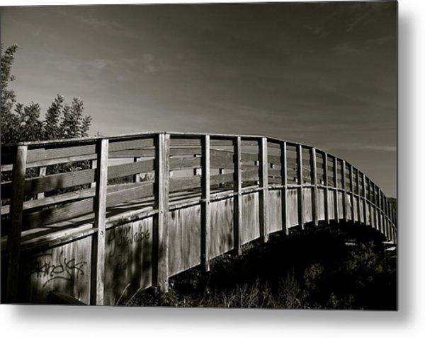 Bridge To The Falls Metal Print by Jez C Self