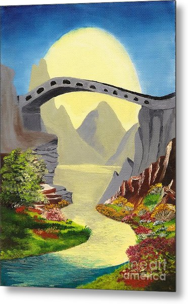 Bridge To The Moon Metal Print