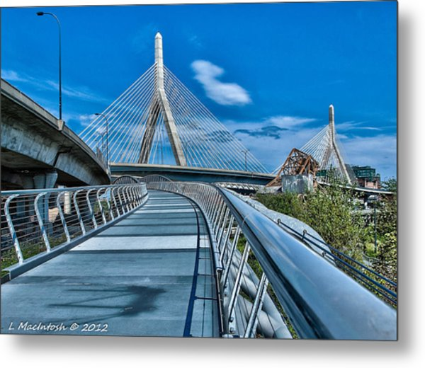 Bridges Meetting Metal Print by Lauren MacIntosh