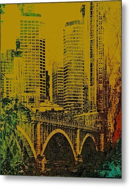 Bridging Minneapolis Metal Print