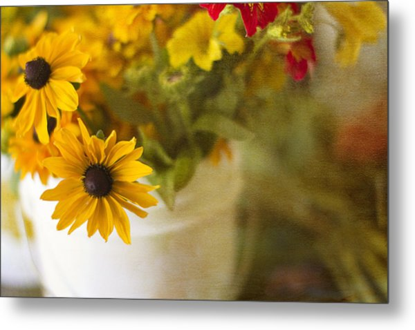 Bright And Sunny Metal Print by Rebecca Cozart