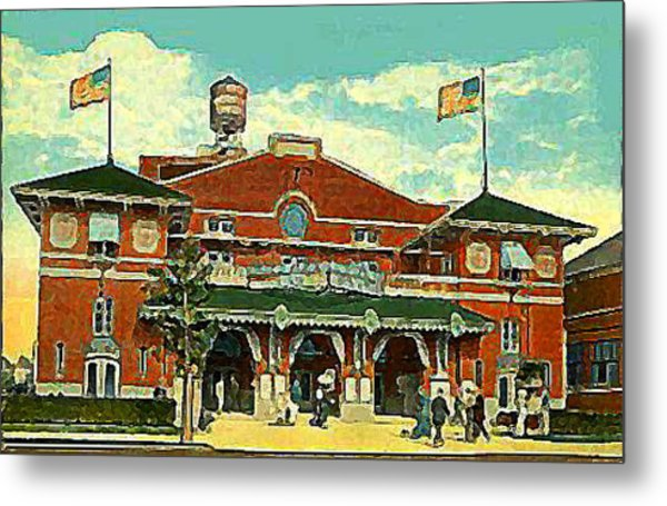 Brighton Beach Theatre At Coney Island In 1910 Metal Print by Dwight Goss