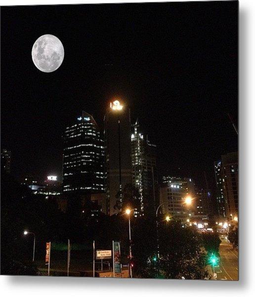 Brisbane Moon Metal Print