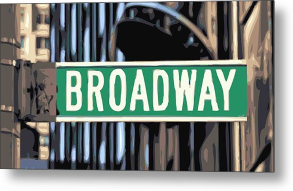 Broadway Sign Color 16 Metal Print
