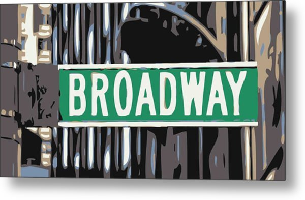 Broadway Sign Color 6 Metal Print