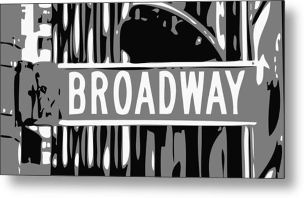 Broadway Sign Color Bw3 Metal Print