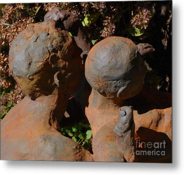 Bronzed Metal Print by Andrea Simon
