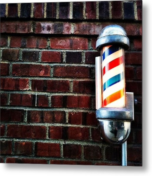Brooklyn Barber Shop.  Metal Print