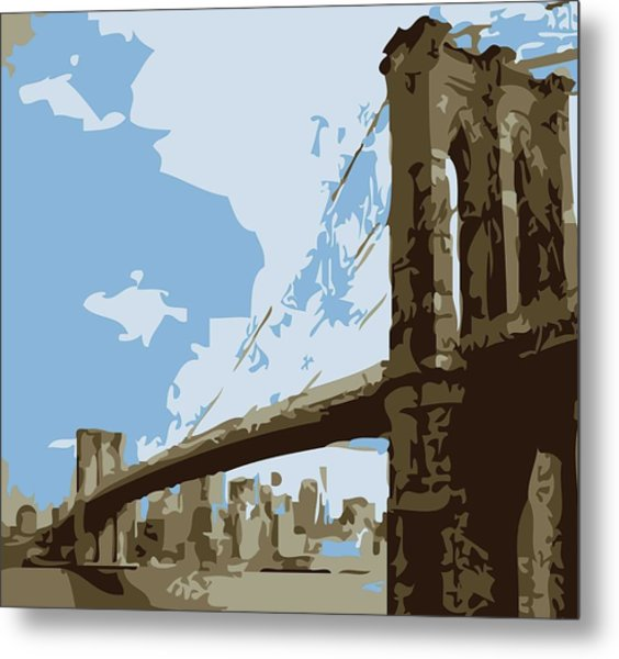 Brooklyn Bridge Color 6 Metal Print
