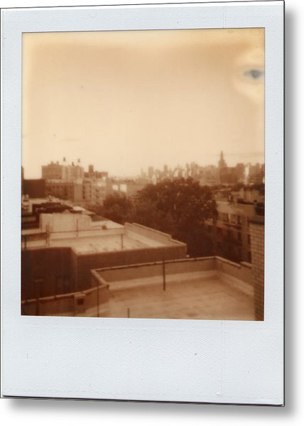 Brooklyn With Ip Px100 Film Metal Print