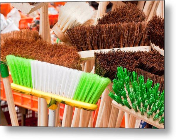 Brooms Metal Print