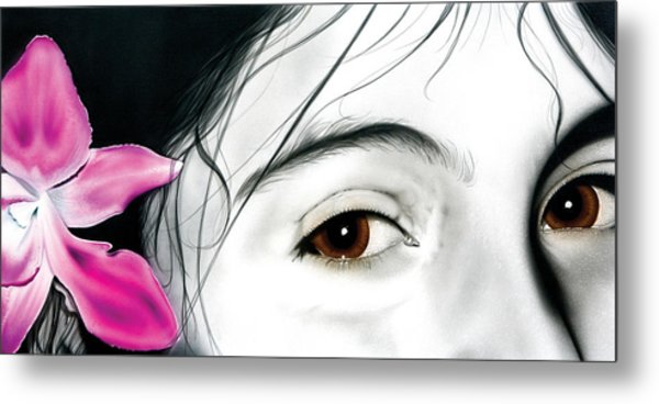 Brown Eyed Girl Metal Print