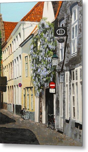 Bruges Wisteria Metal Print