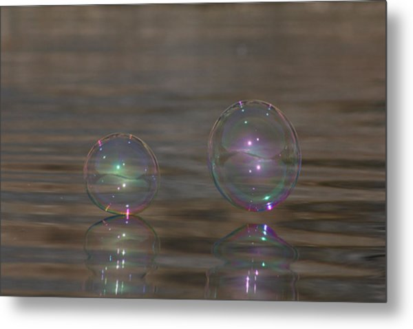 Bubble Iridescence Metal Print