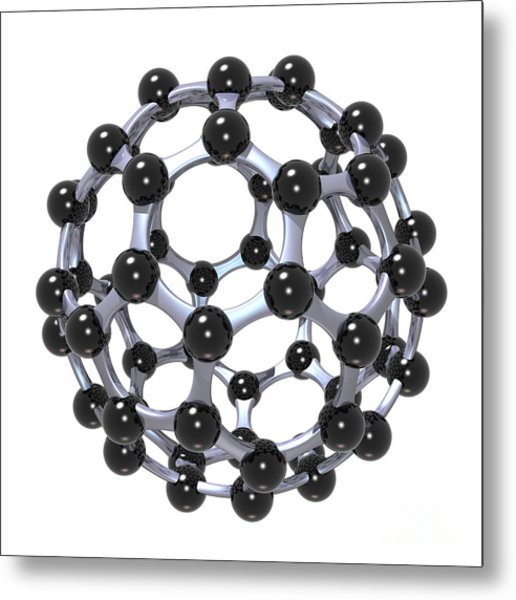 Buckminsterfullerene Or Buckyball C60 18 Metal Print