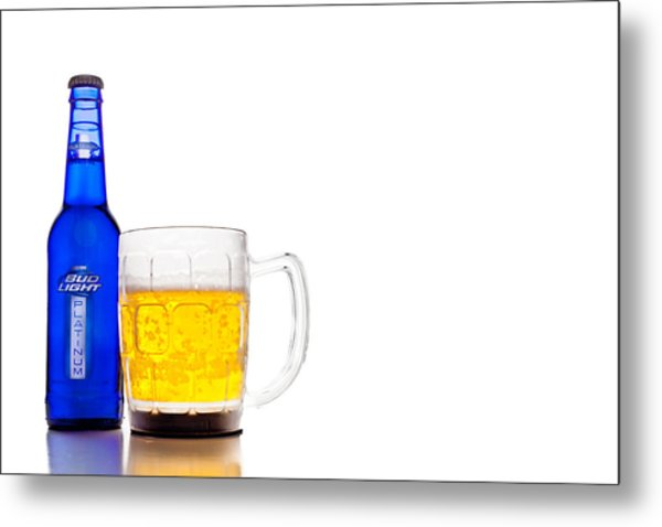 Bud Light Platinum Metal Print