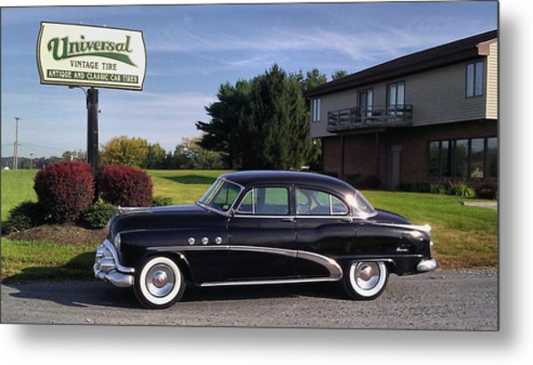 Buick Eight 1952 Metal Print by Elizabeth Coats