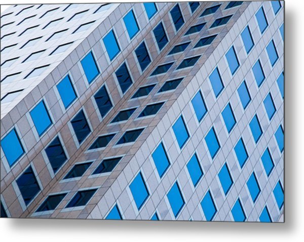Building Abstract In Long Beach Metal Print