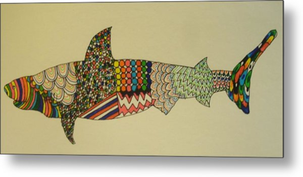 Bull Shark Metal Print