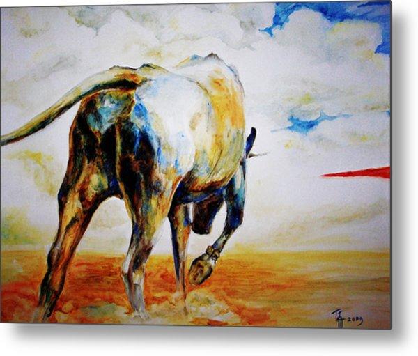 Bull. Metal Print