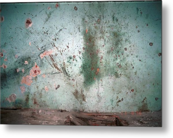 Bullet Riddled Wall Of The Dom Kulture Metal Print